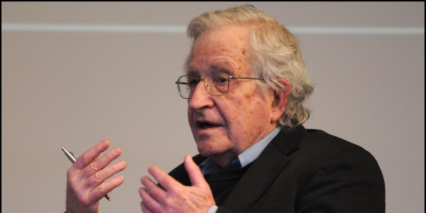 American linguist and philosopher Noam Chomsky in conversation at the British Library, London, UK on 19th March 2013. (Photo by David Corio/Redferns)